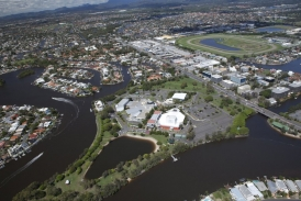Aerial over the Nerang River