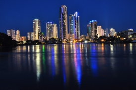 Surfers Paradise Night Skyline